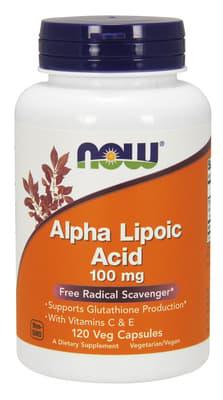 Now Foods アルファリポ酸100 mg 120ベジカプセル