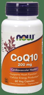 Now Foods コエンザイムQ10 200 mg 60ベジカプセル