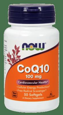 Now Foods CoQ10 100 mg 50ソフトジェル