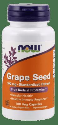 Now Foods グレープシード 100 mg 100ベジカプセル