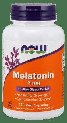 Now Foods メラトニン 3 mg 180カプセル