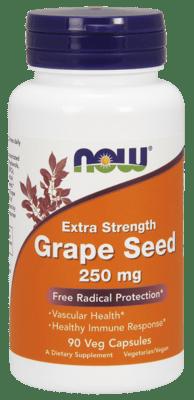 Now Foods  グレープシード250 mg 90ベジカプセル