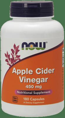 Now Foods アップルサイダービネガー 450 mg 180カプセル