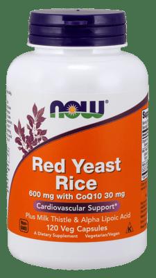 Now Foods CoQ10入り600 mgのレッドイーストライス 30 mg 120ベジカプセル