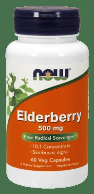 Now Foods エルダーベリーエキス 500 mg 60ベジカプセル