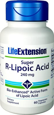 Life Extension スーパーR-リポ酸 300 mg 60ベジカプセル