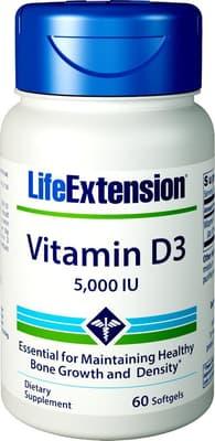 Life Extension ビタミンD3 5,000 IU 60ソフトジェル