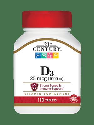 21st Century ビタミンD 3 1,000 IU 110錠