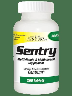 21st Century セントリー マルチビタミン & マルチミネラル サプリメント 200錠