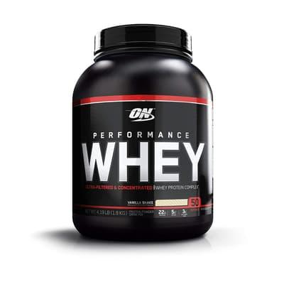 Optimum Nutrition パフォーマンスホエイプロテイン バニラシェイク 1.9 kg