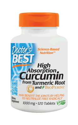 Doctor's BEST ベストクルクミン C3 コンプレックス ビオペリン入り 1,000 mg 120錠