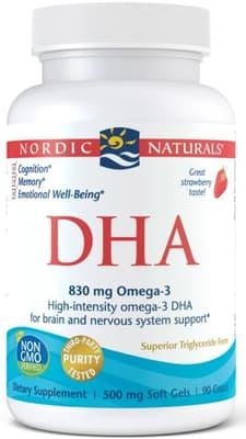 Nordic Naturals DHA 500 mg 90ソフトジェル