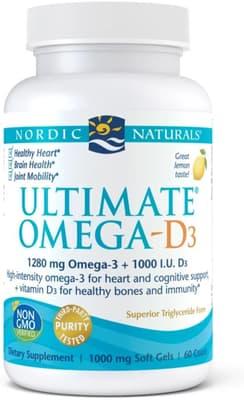 Nordic Naturals アルティメート オメガ D3 1,000 mg 60ソフトジェル