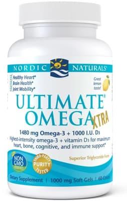 Nordic Naturals アルティメート オメガエクストラ 1,000 mg 60ソフトジェル