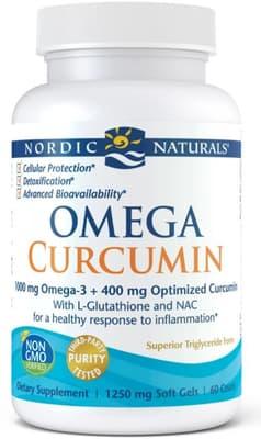 Nordic Naturals オメガ クルクミン ダイエタリィ サプリメント 1,250 mg 60 ソフトジェル