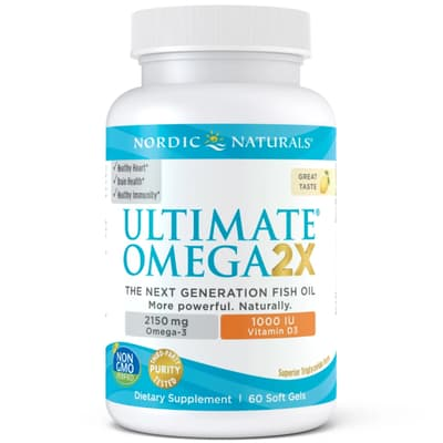Nordic Naturals Ultimate Omega 2x with D3 60 Softgels