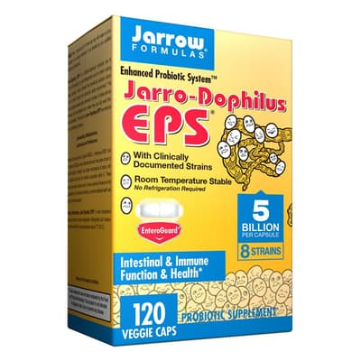Jarrow Formulas ジャロ ーフィルス EPS プロバイオティクス 120 ベジカプセル