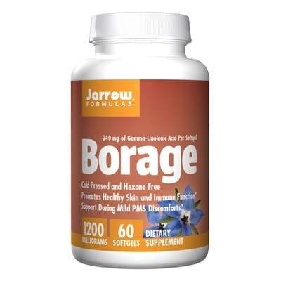 Jarrow Formulas BORAGE 1,200 mg 60ソフトジェル