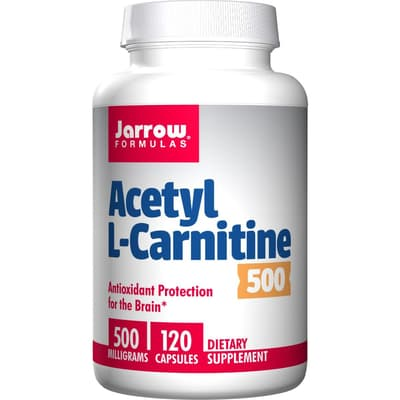 Jarrow Formulas アセチル-L-カルニチン 500 mg 120ベジカプセル