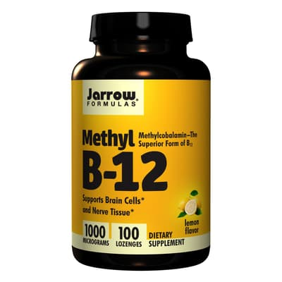 Jarrow Formulas ビタミンB-12 レモンフレーバー 1,000 mcg 100 錠