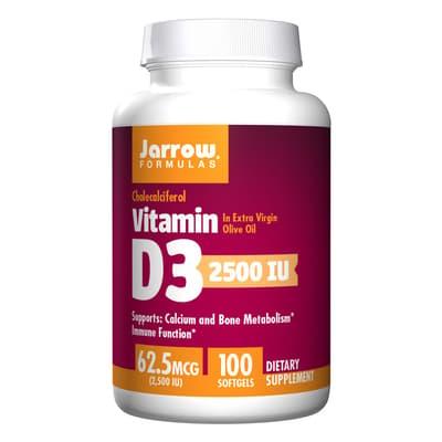 Jarrow Formulas ビタミンD 3 62.5 mcg 100ソフトジェル