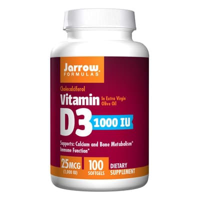 Jarrow Formulas ビタミンD3 25 mcg 100 ソフトジェル