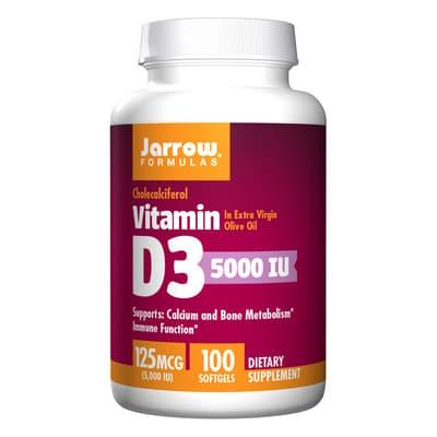 Jarrow Formulas ビタミン D3 125 mcg 100 ソフトジェル