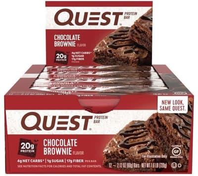 Quest Nutrition クエストバー プロテインバー チョコレートブラウニー 12個入り