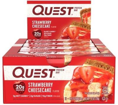 Quest Nutrition クエストバー プロテインバー ストロベリー チーズケーキ 12 個入り