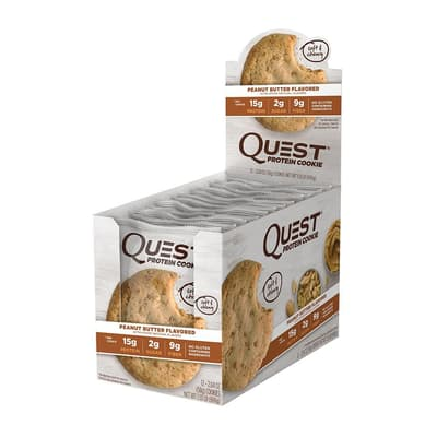 Quest Nutrition プロテインクッキー ピーナッツバター味 12個入り
